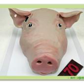 529. Marcipánový 3D dort – Prasečí hlava