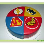 521. Marcipánový dort – Superhrdinové DC