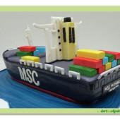 524. Marcipánový dort 3D tanker