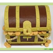 520. Marcipánový 3D dort – Truhla pokladů