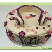 535. Violetta – marcipánový dort