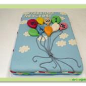 539. Narozeninový balónkový dort