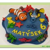 541. Nemo a Dory – malý marcipánový dort