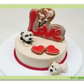 551. Valentýnský dort 6. Love s pejsky
