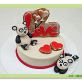 547. Valentýnský dort 2. Love s pandami