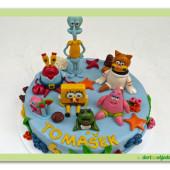 542.  Sponge bob  a jeho parta marcipánový dort
