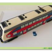 545. Marcipánový 3D dort – Vlak – city