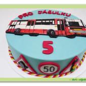 559. Marcipánový dopravní dort – Autobus