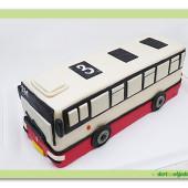 564. Modelovaný dort 3D – Autobus