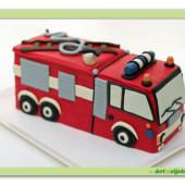 596. Hasiči – modelovaný 3D dort