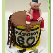 575. Malířský marcipánový dort