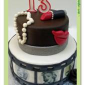 "576. Marcipánový patrový dort "" Marilyn"""