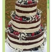 """569. Svatební dort – """"Naháč """" s ovocem"""