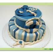 586. Námořnický dort – marcipánový patrový dort