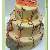 572. Svatební dort – maškarní