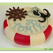 585. Záchranný kruh – marcipánový 3D dort