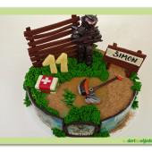 590. Fortnite Omega  – marcipánový dort na téma pc hry