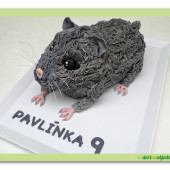 588. Křeček – marcipánový 3D dort