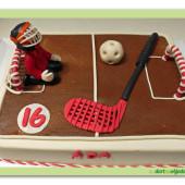 593. Florbalový dort