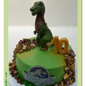 594. Jurassic world – marcipánový dort s tyranosaurem