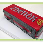 620. Autobus 2  – marcipánový 3D dort