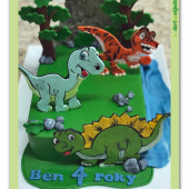 600. Dino park – dinosauří dort