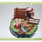 602. Fortnite Ragnarok  – marcipánový dort