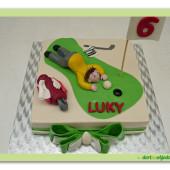 622. Golfista na greenu – marcipánový dort