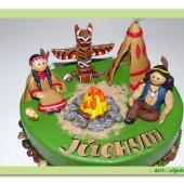 407. Indiánský – marcipánový dort