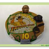 616.Indiana Jones – marcipánový dort