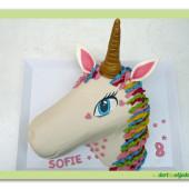 619. Jednorožec – marcipánový dort