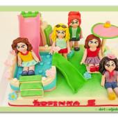 603. Lego friends – marcipánový dort
