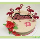 605. Plameňáci – marcipánový dort