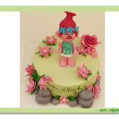 607. Princezna Poppy – trollka – marcipánový dort