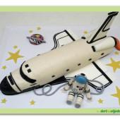 614. Raketoplan – marcipánový 3D dort