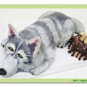 598. Vlk – marcipánový 3D dort