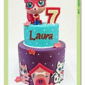 637. Marcipánový dort Littlest Pet Shop