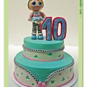 636. Marcipánový dort L.O.L. surprise panenka