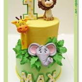 634. Marcipánový narozeninový dort ZOO