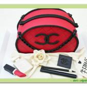 641. Chanel set – marcipánový dort