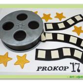 651.Filmová cívka s hvězdami