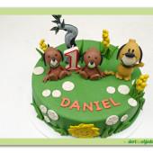 649. TIP, TAP a strýček FIDO marcipánový dort
