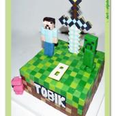 674. Minecraft dort s mečem a figurkami