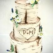 682. Svatební dort  Bříza