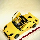 683. Lamborghini – marcipánový 3D dort