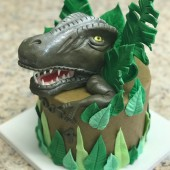 685. Tyrannosaurus  – 3D marcipánový dort